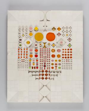 ルート・ブリュック《陶板(タイル・コンポジション)》1970年代 アラビア製陶所 コレクション・カッコネン photo:Niclas Warius